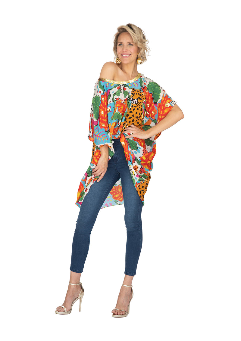 Portrait of a Jungle Kaftan Short by Bonita Collective
