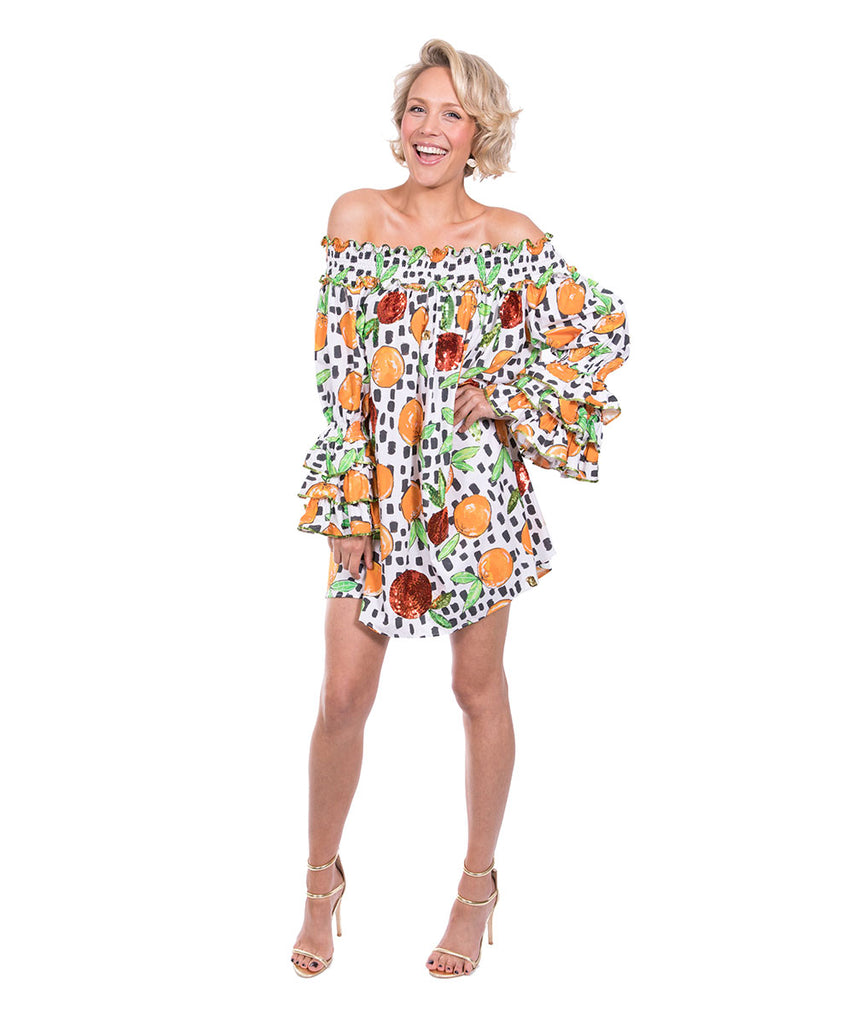 The Sorrento Ruffle Top by Bonita Kaftans