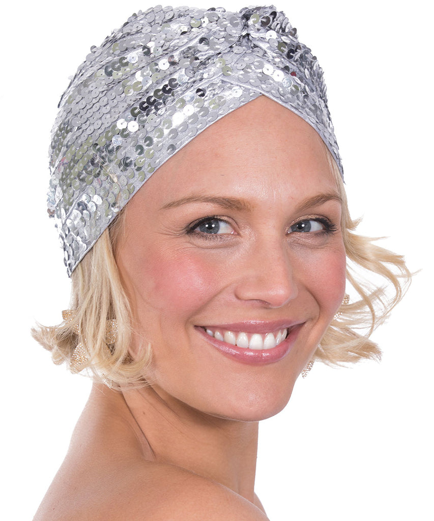 The Silver Sequin Turban by Bonita Kaftans