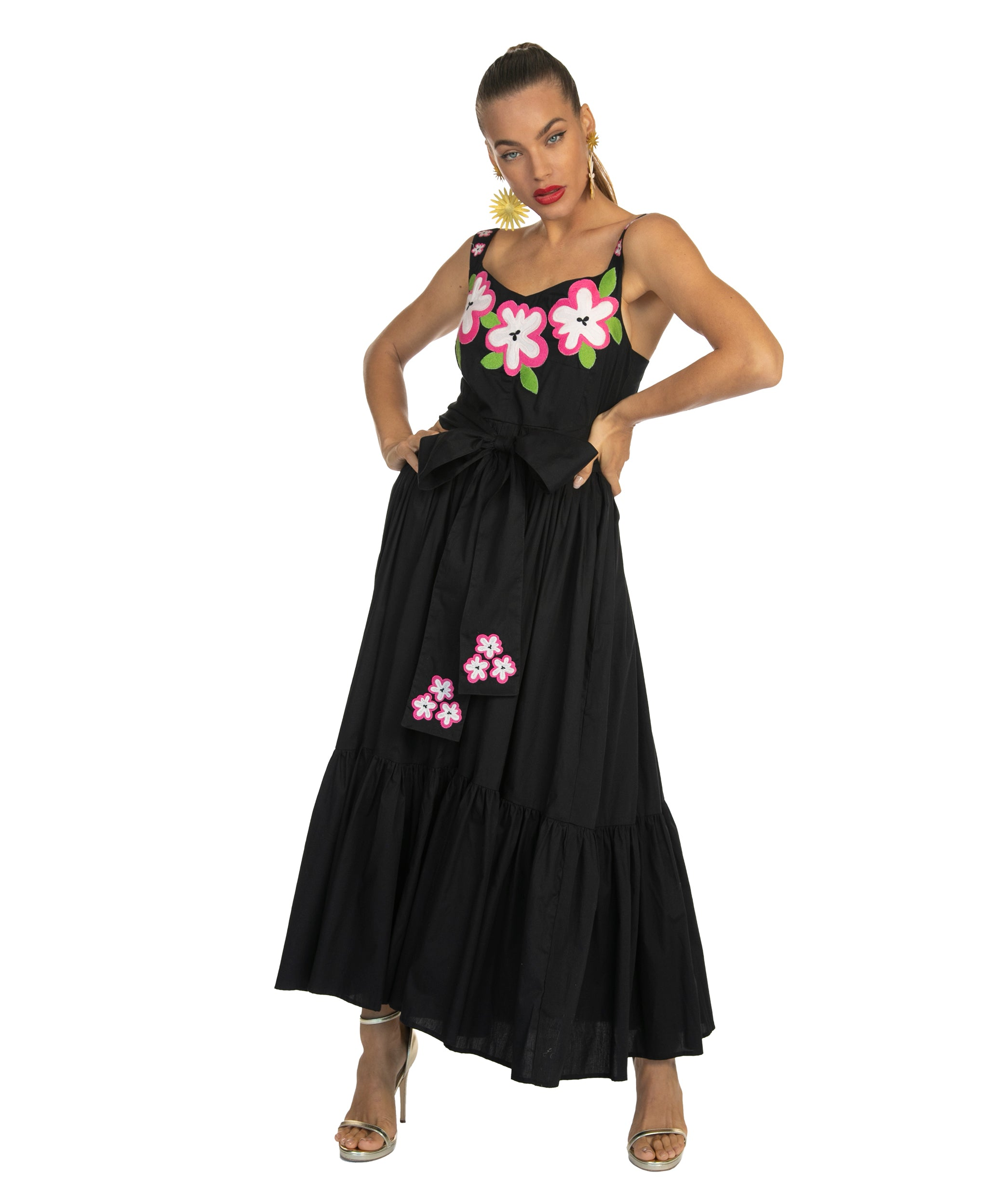 The Black Havana Tie Dress by Bonita Collective