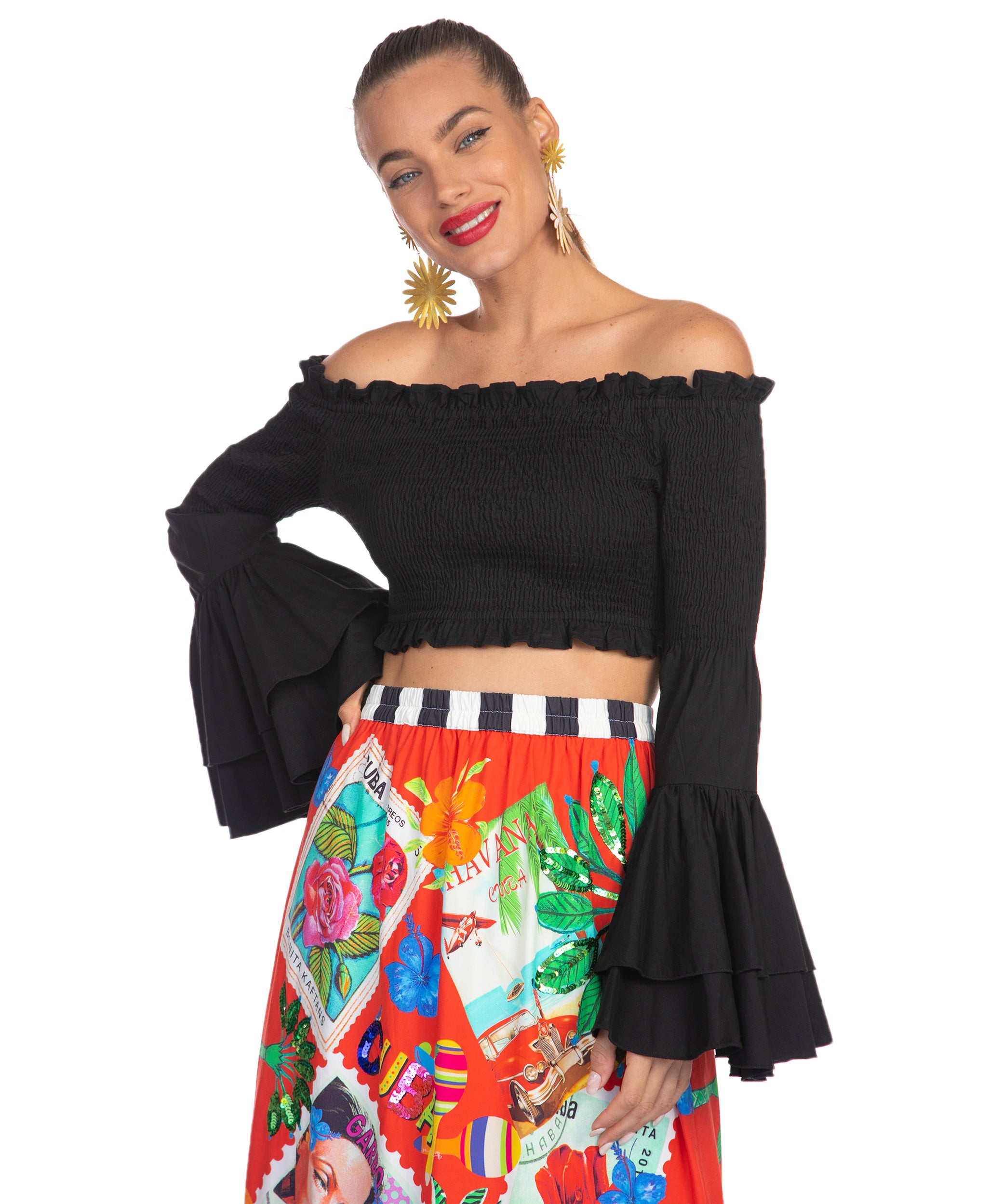 The Black Salsa Top by Bonita Collective