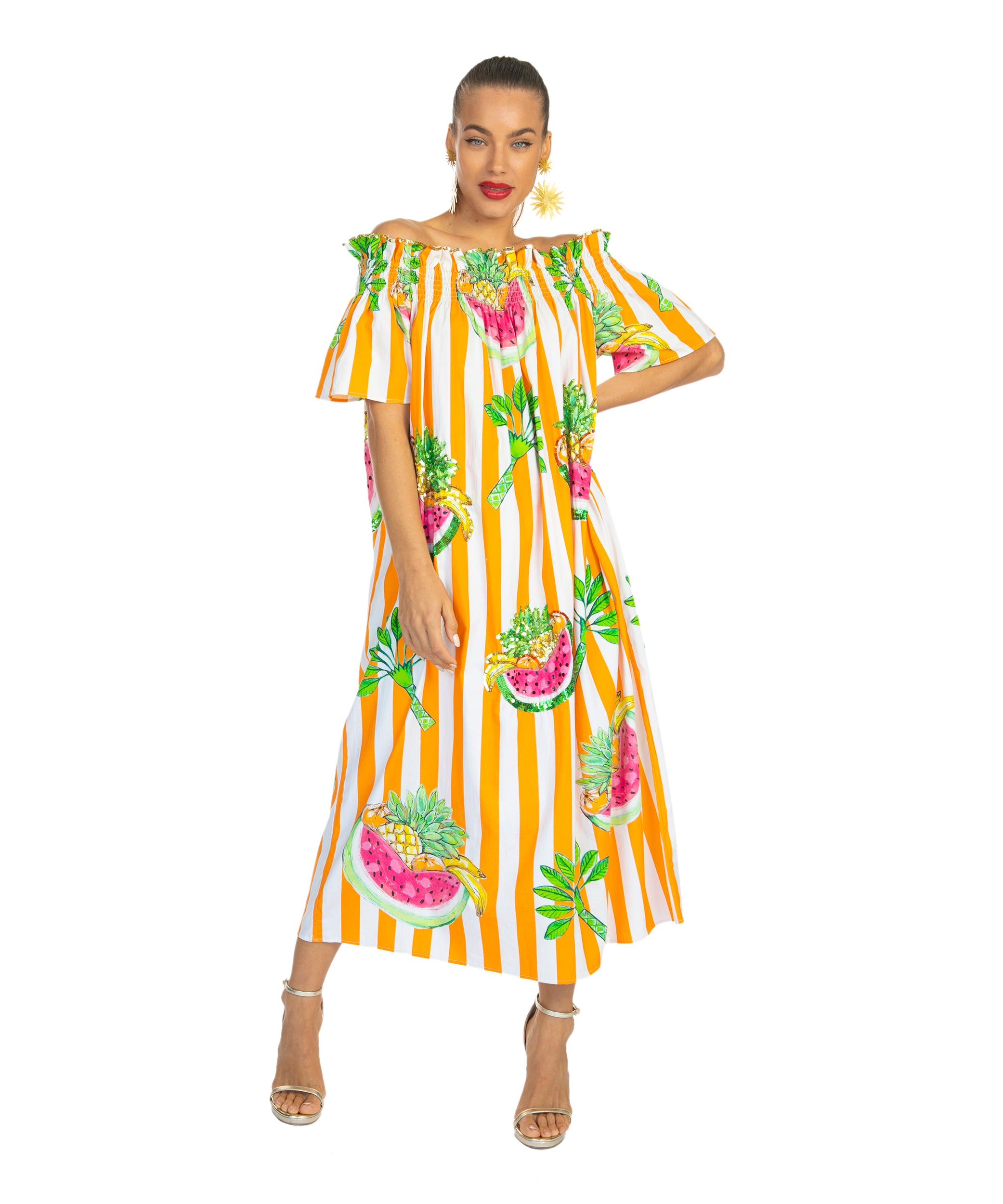 The Carmen Miranda OTS Dress by Bonita Collective
