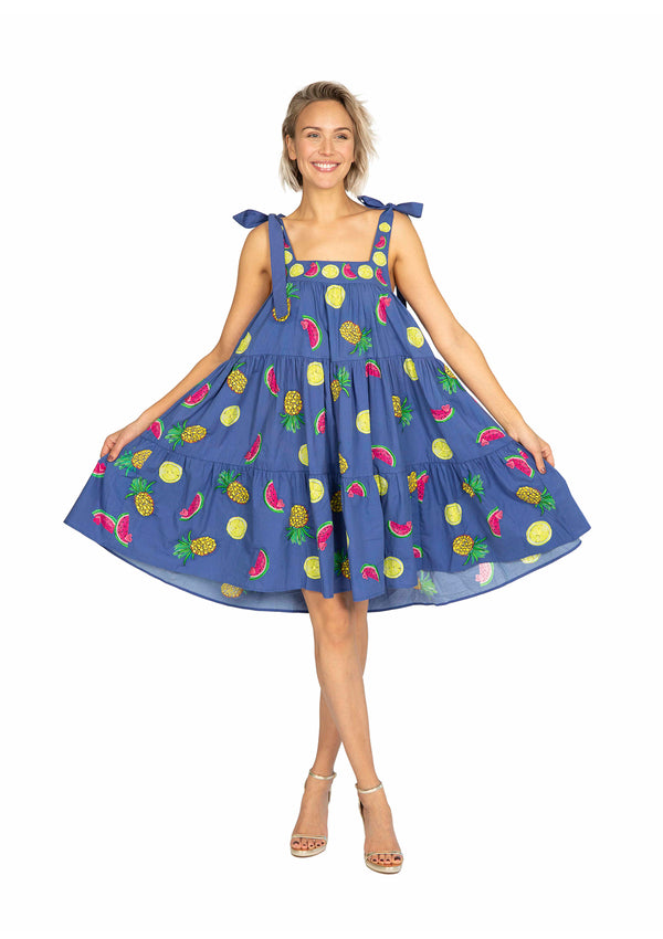 The Fruitbowl Swing Dress by Bonita Collective