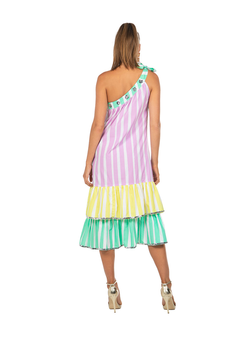 The Gelateria One Shoulder Dress by Bonita Collective
