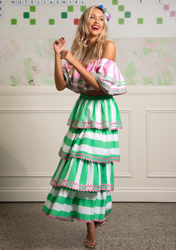 The Menta Ruffle Skirt by Bonita Collective