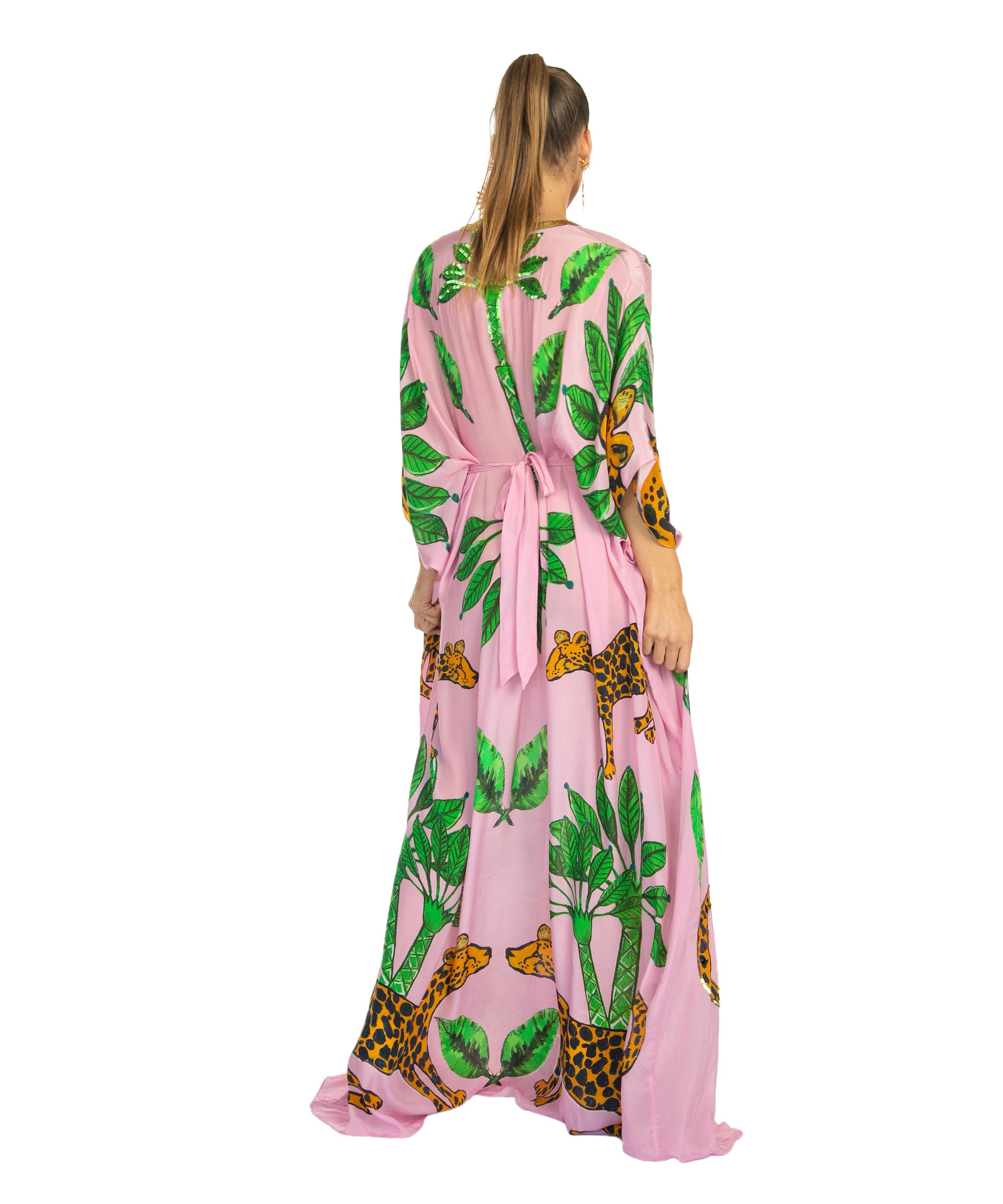The Pink Guepardo Silk Dress