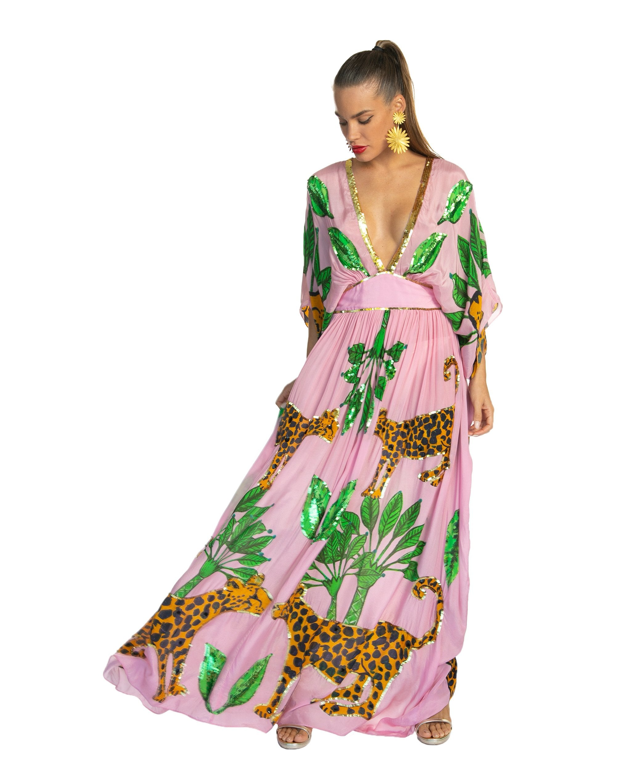The Pink Guepardo Silk Dress by Bonita Collective