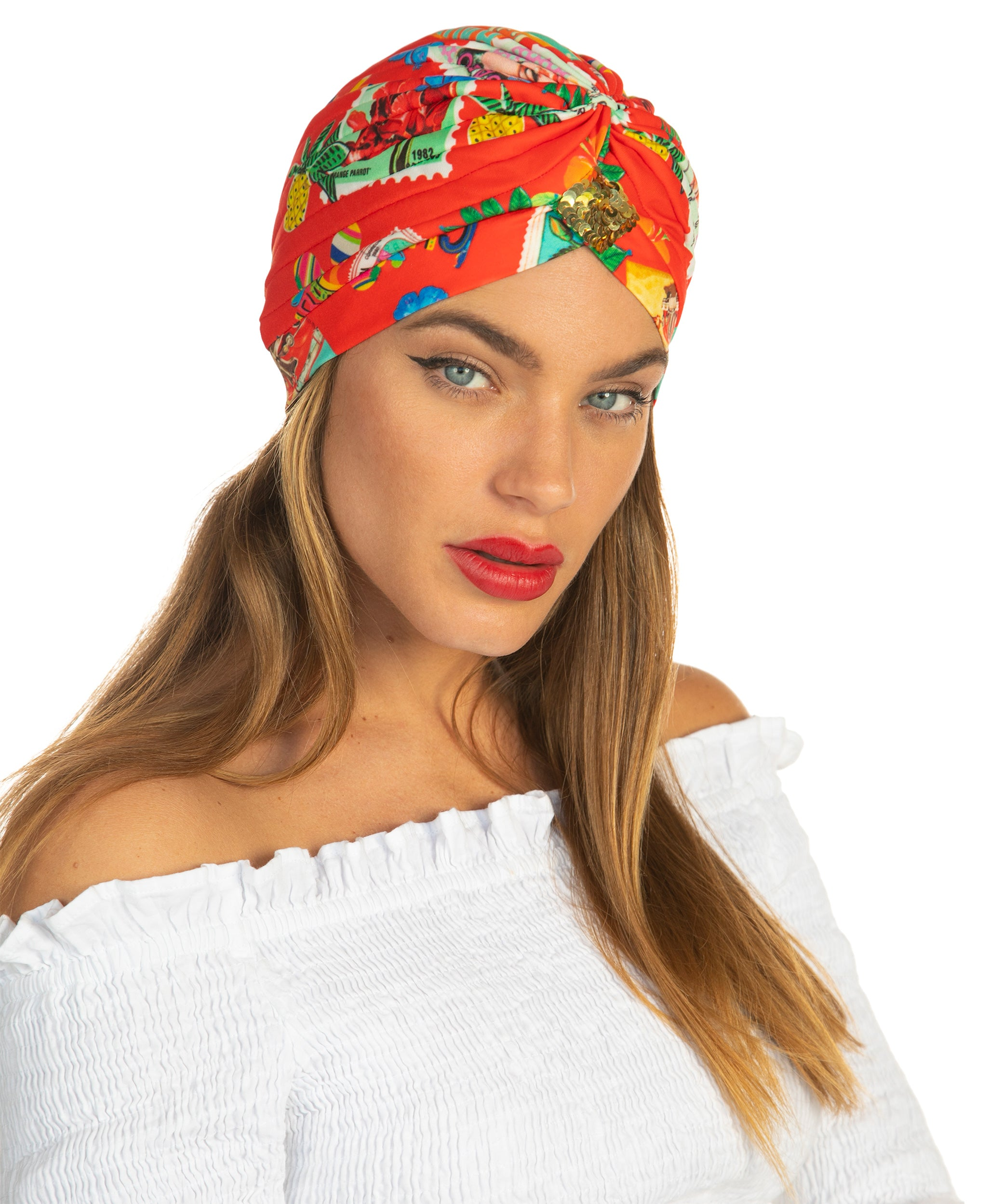 The Red Cuban Stamp Turban