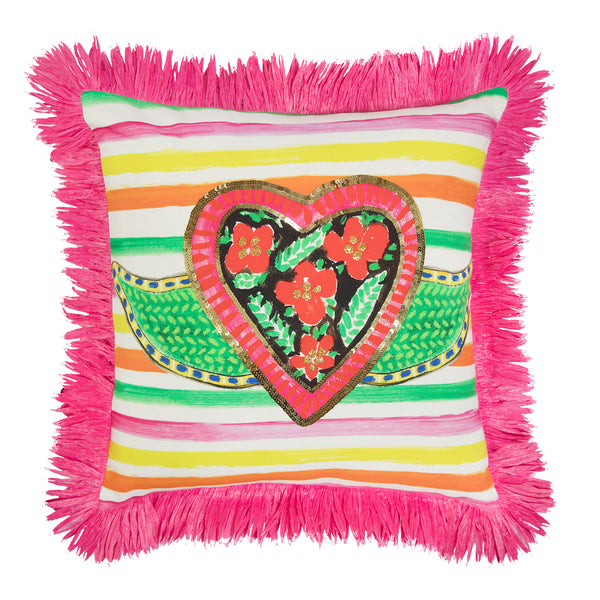 The Sacred Heart Cushion by Bonita Home / Bonita Collective