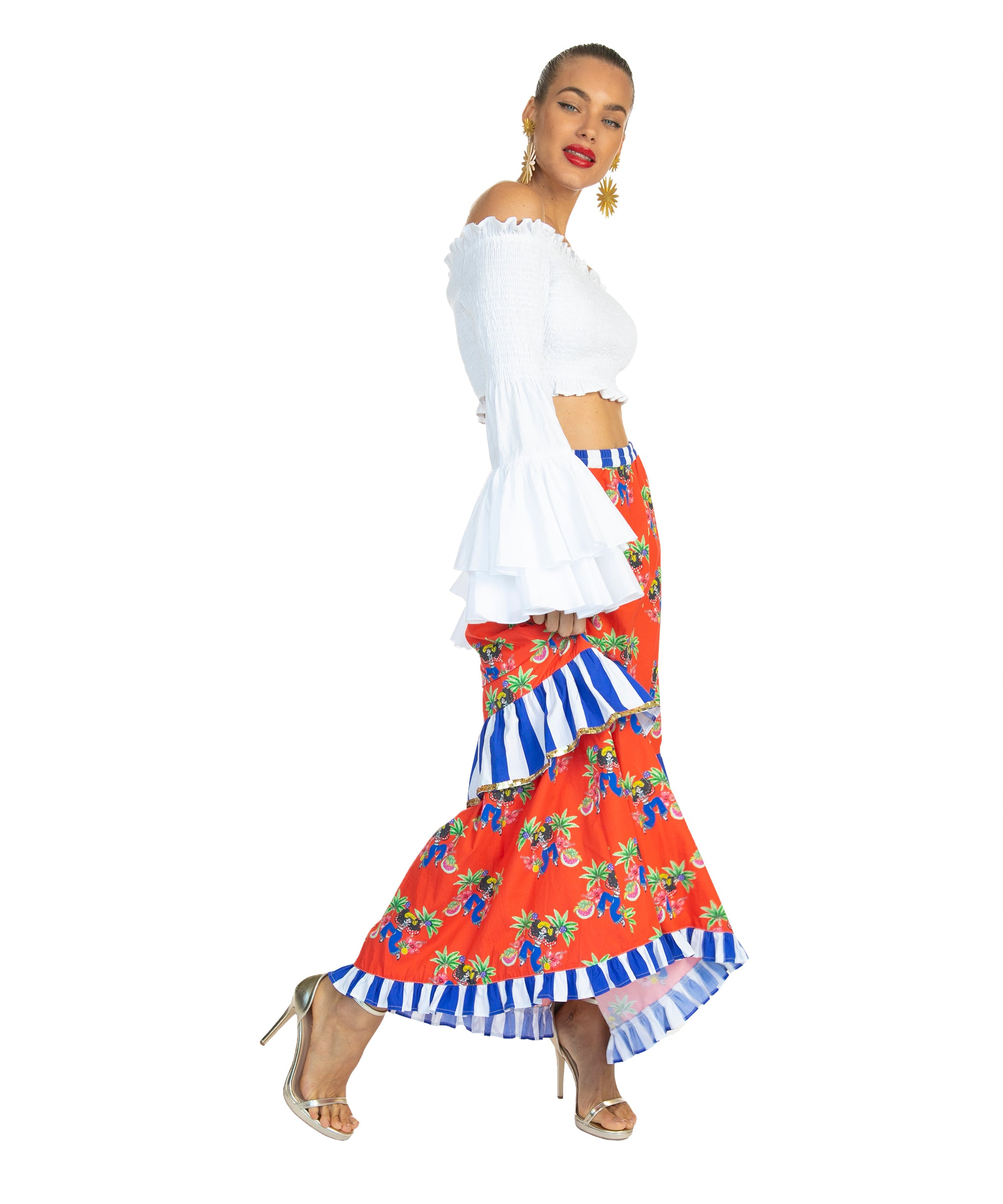 The Salsa Cubana Slimline Skirt by Bonita Collective
