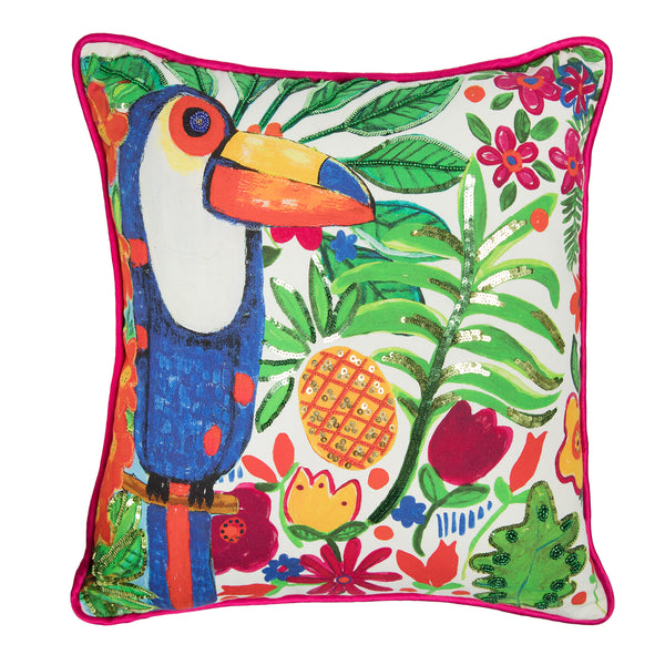 The Toucan Island Cushion