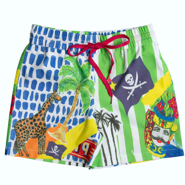 The Mini Treasure Island Boardshorts by Bonita Bambino