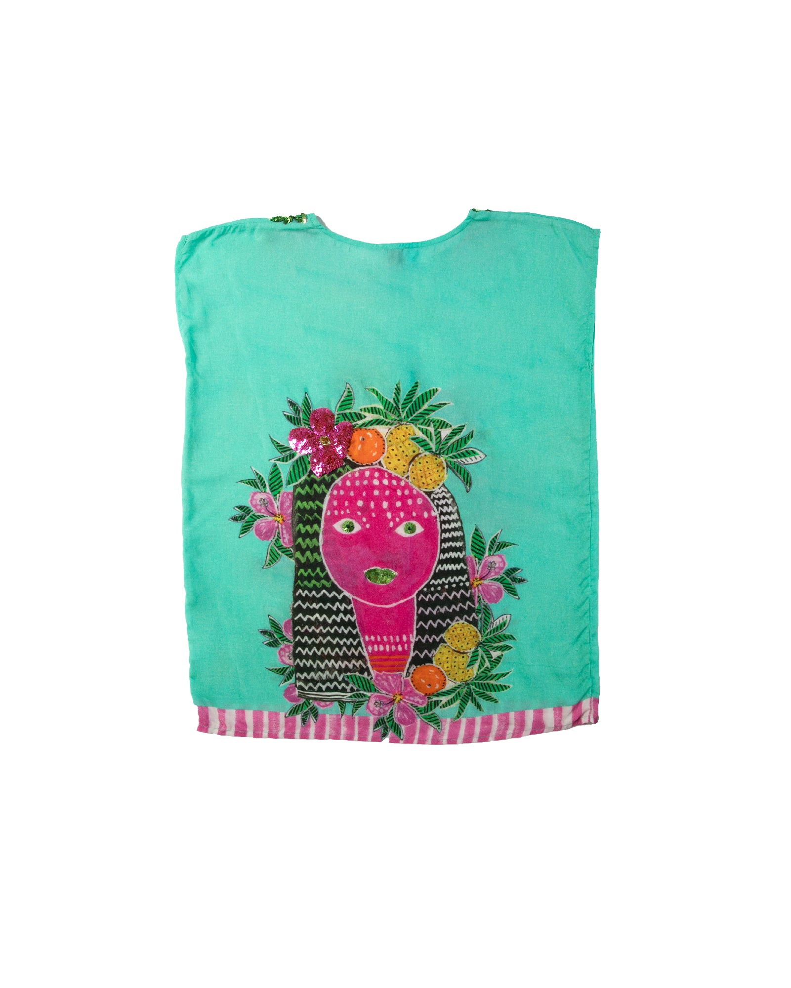 The Aztec Princess Girls Kaftan by Bonita Bambino - BACK