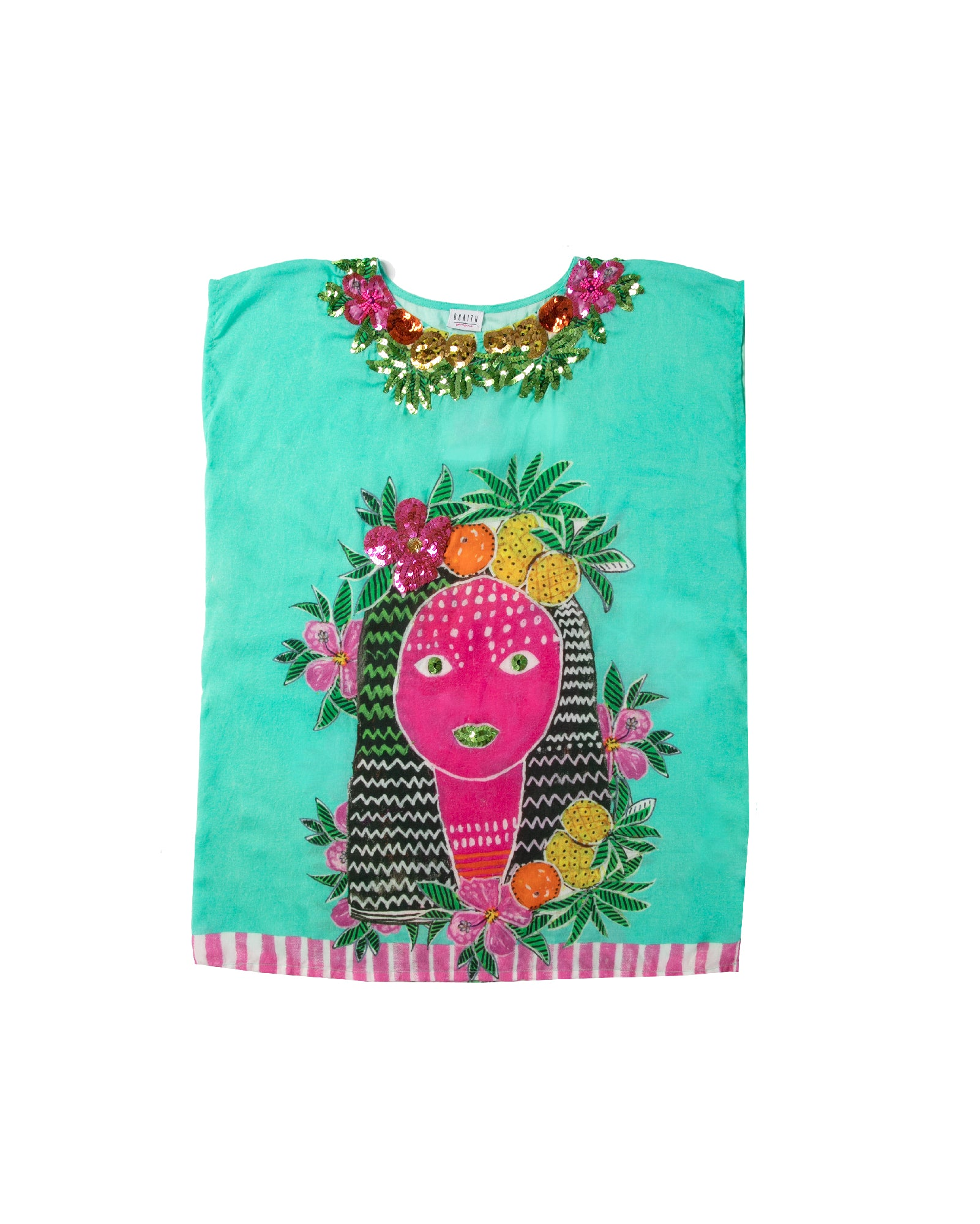The Aztec Princess Girls Kaftan by Bonita Bambino - FRONT