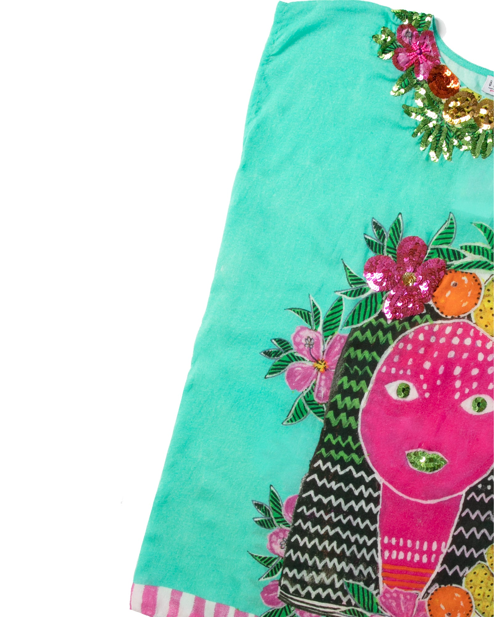 The Aztec Princess Girls Kaftan by Bonita Bambino - DETAIL