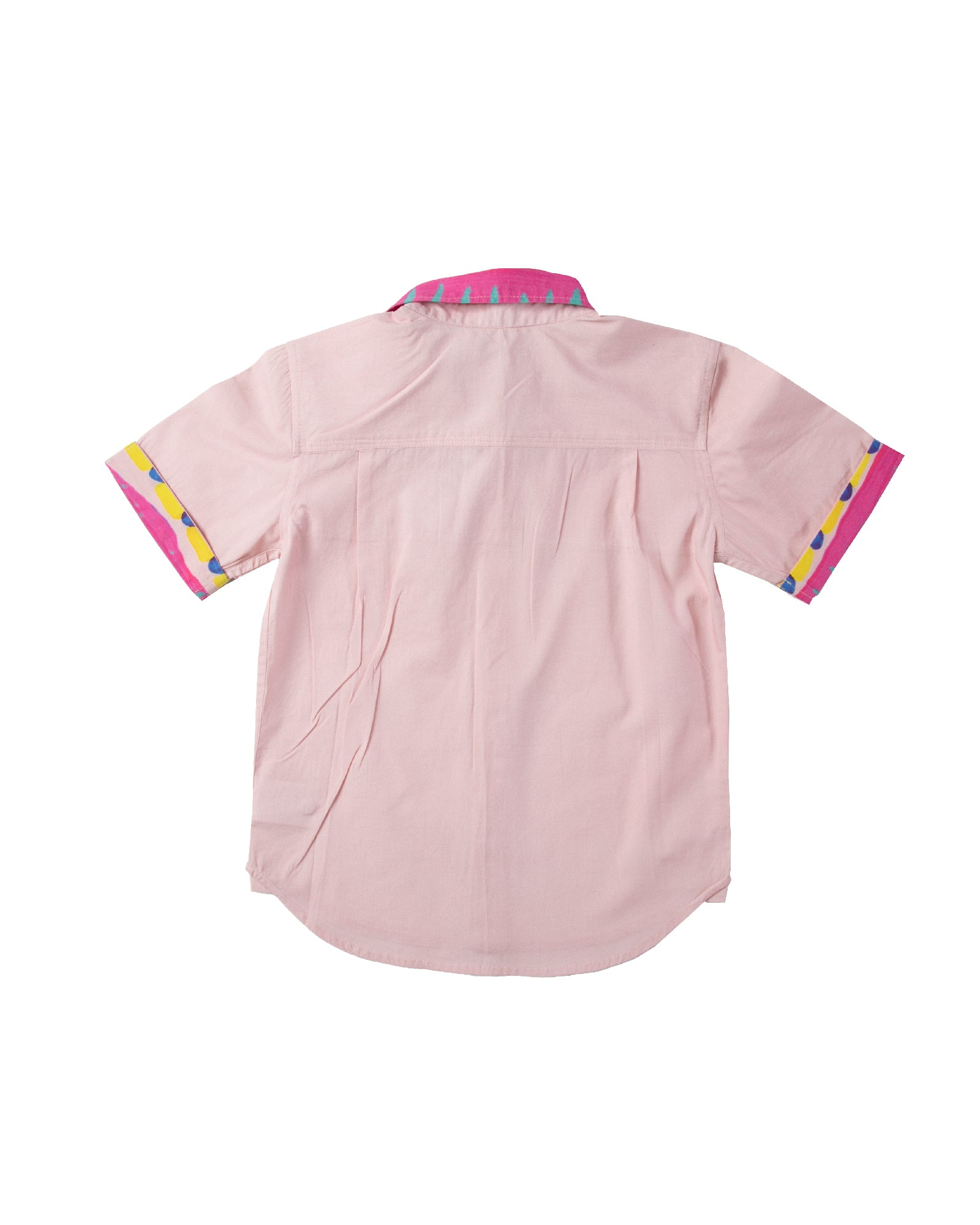 The Boys Electric Pink Party Shirt by Bonita Bambino - BACK