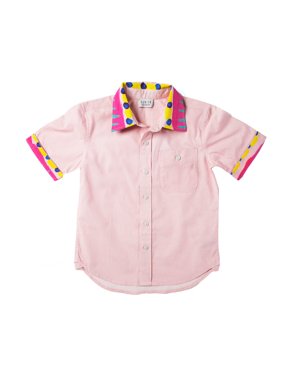 The Boys Electric Pink Party Shirt by Bonita Bambino - FRONT