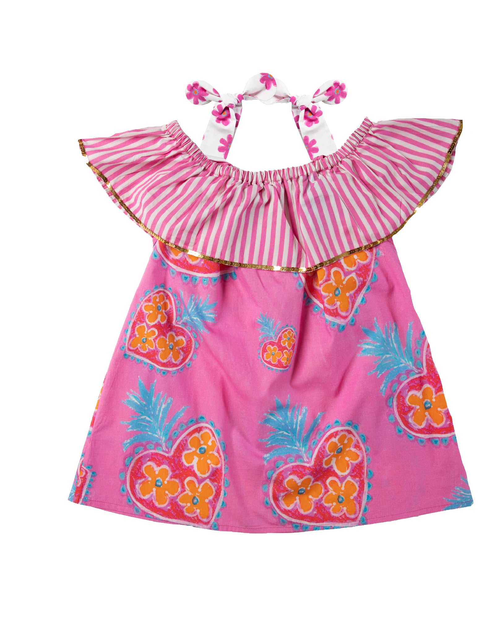 The Coral OTS Sacred Heart Girls Dress by Bonita Bambino - Back