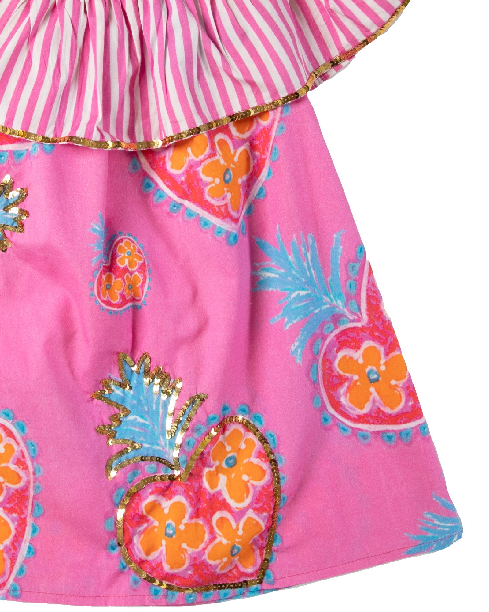 The Coral OTS Sacred Heart Girls Dress by Bonita Bambino - Detail