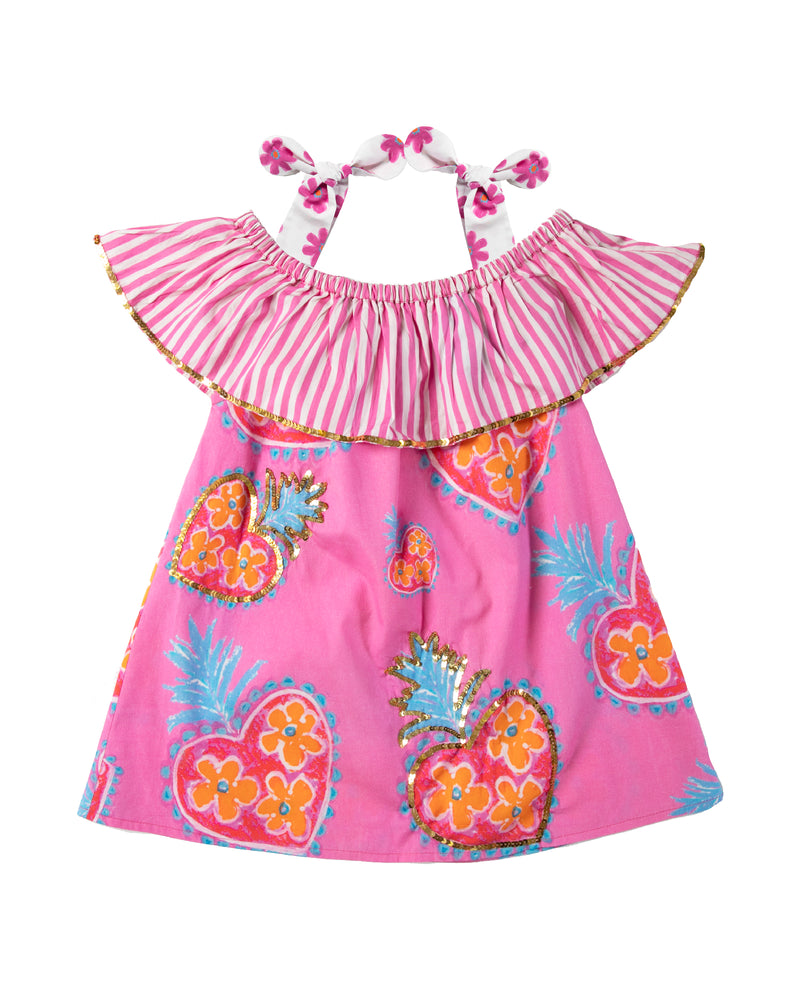 The Coral OTS Sacred Heart Girls Dress by Bonita Bambino - Front