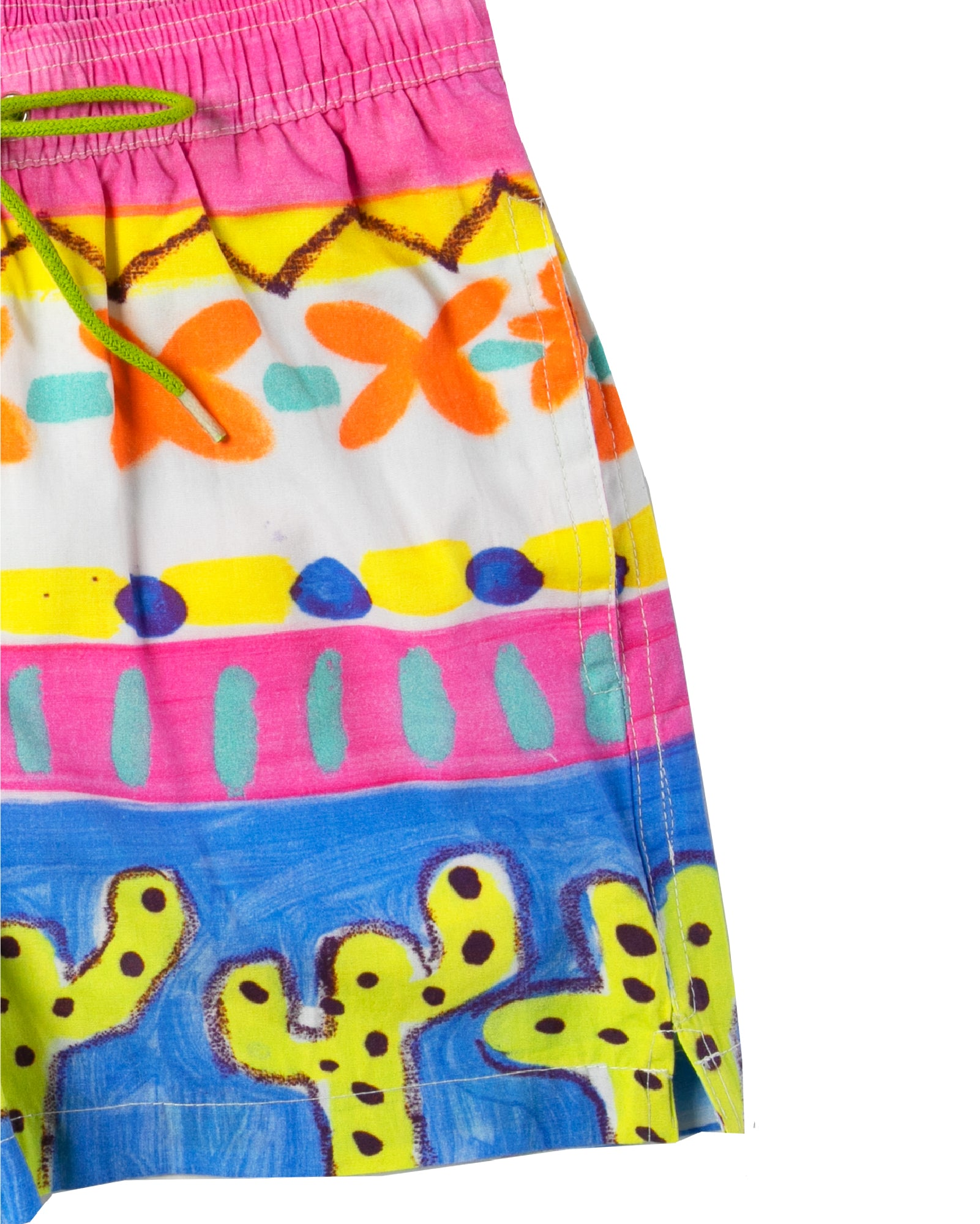 The Desert Cactus Boys Boardshorts by Bonita Bambino - DETAIL