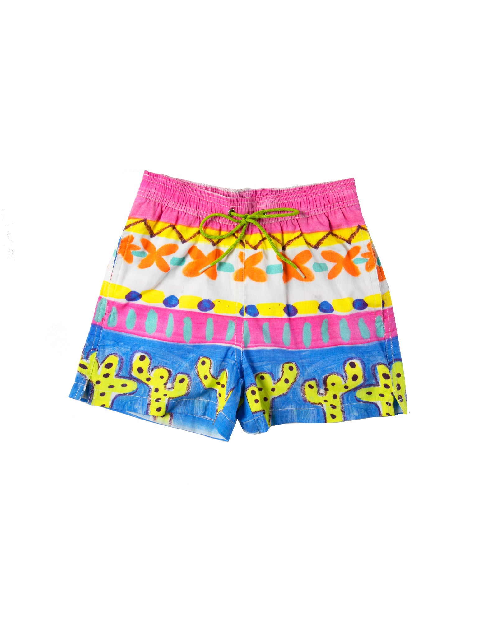 The Desert Cactus Boys Boardshorts by Bonita Bambino - FRONT