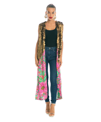 The Floral Cheetah Cape by Bonita Kaftans