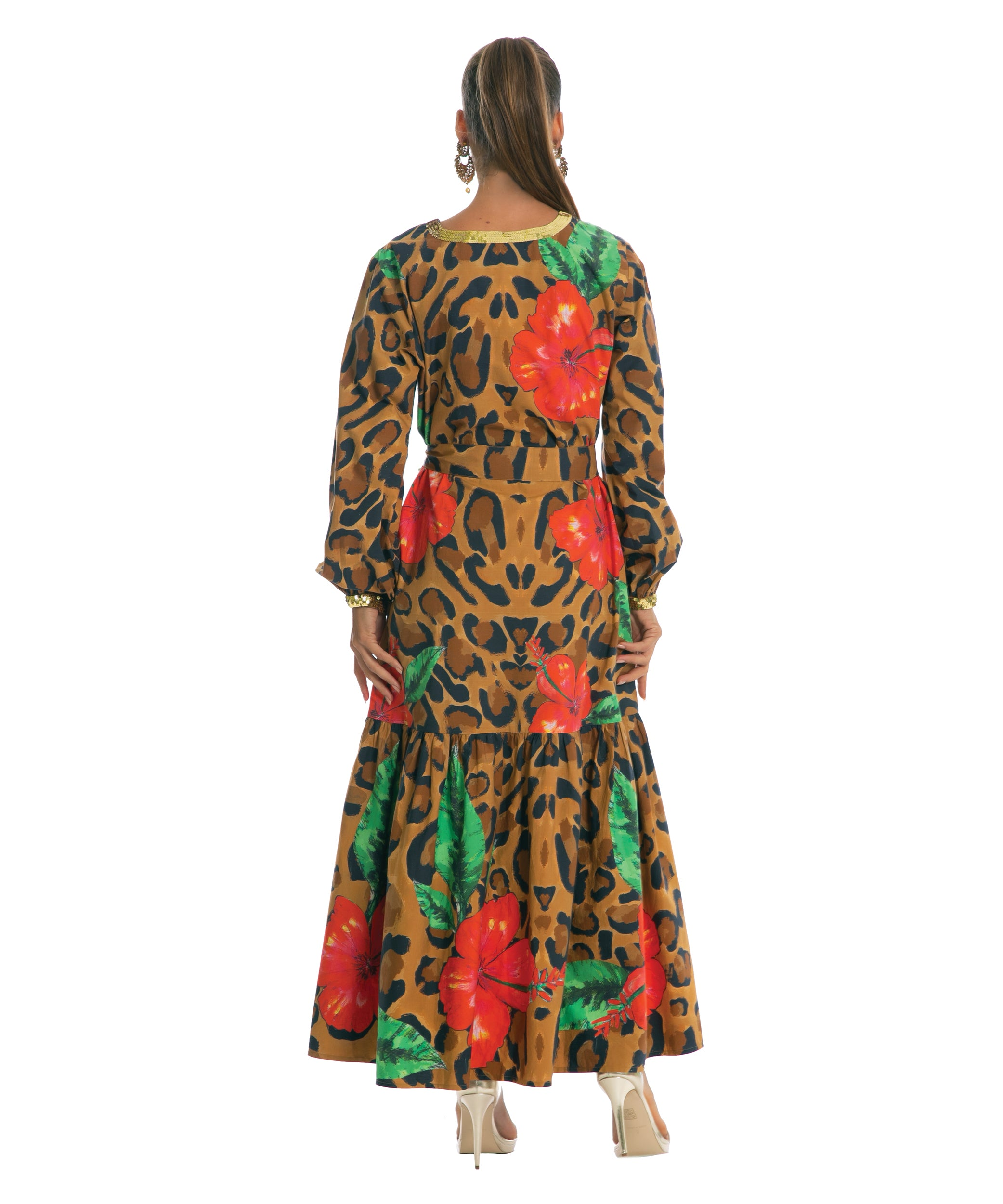 The Hibiscus Long Sleeved Dress