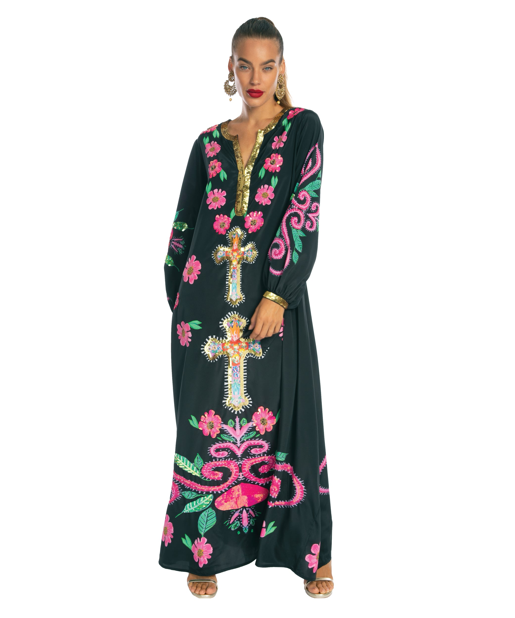 The Mexican Cross Kaftan by Bonita Kaftans