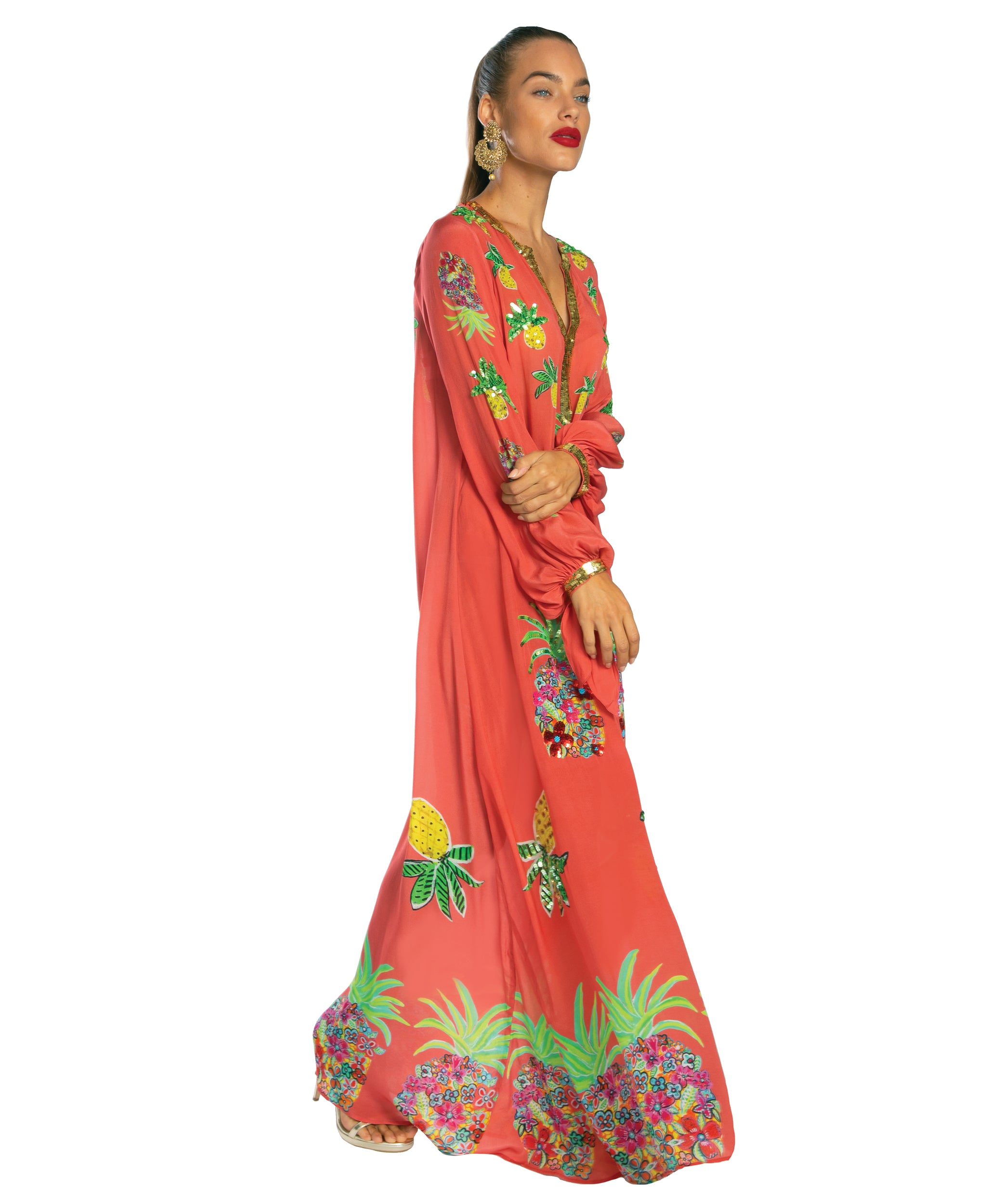 The Pineapple Floral Kaftan by Bonita Kaftans