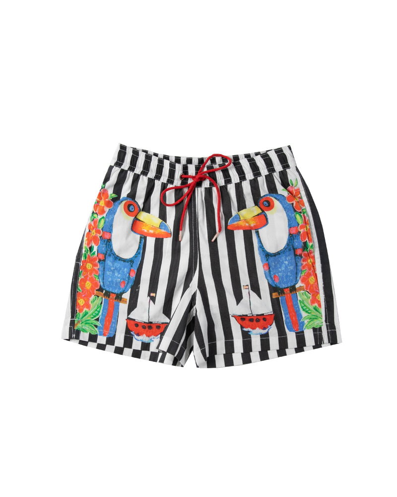 The Toucan Party Boardshorts by Bonita Bambino