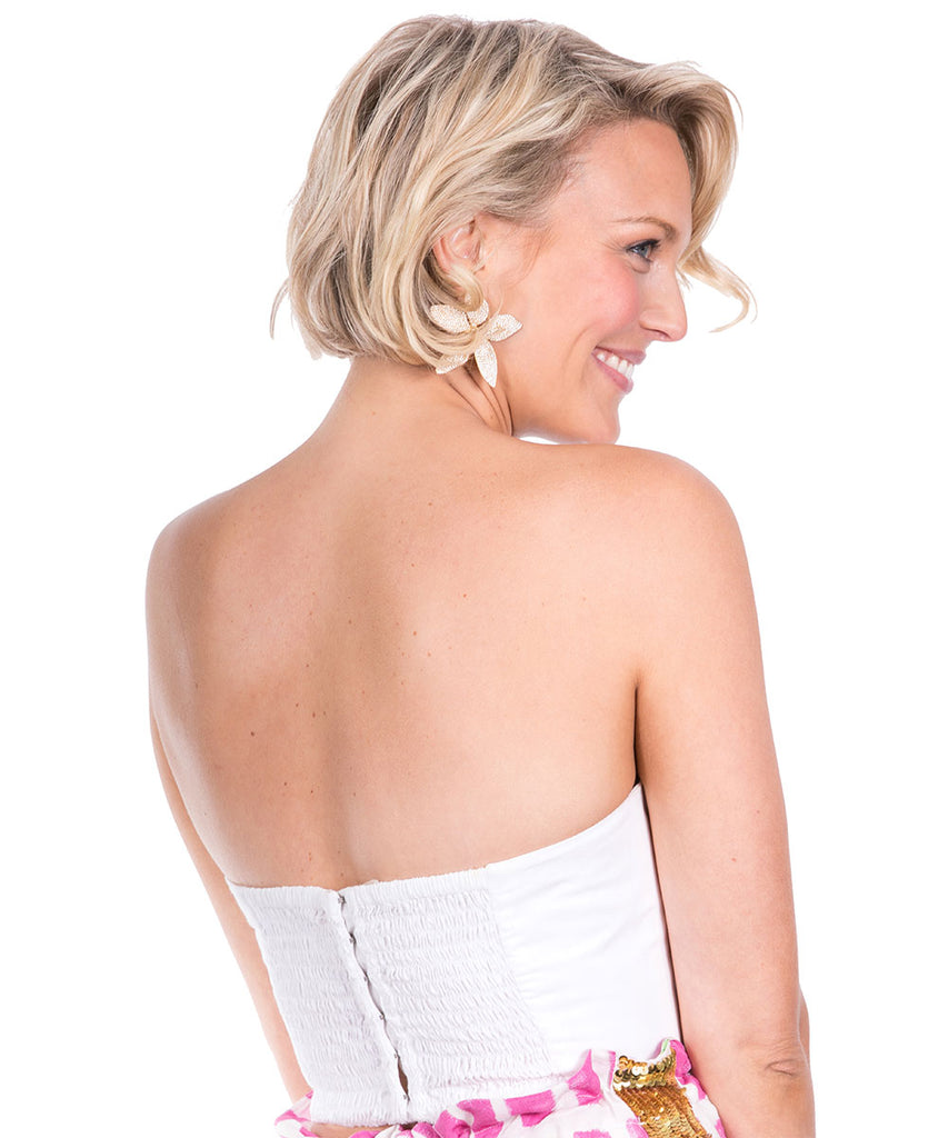 The White Bow Bustier by Bonita Kaftans