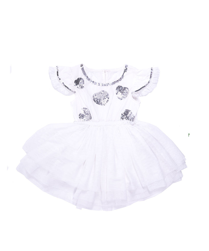 The Fairy White One Piece Tutu Dress by Bonita Bambino