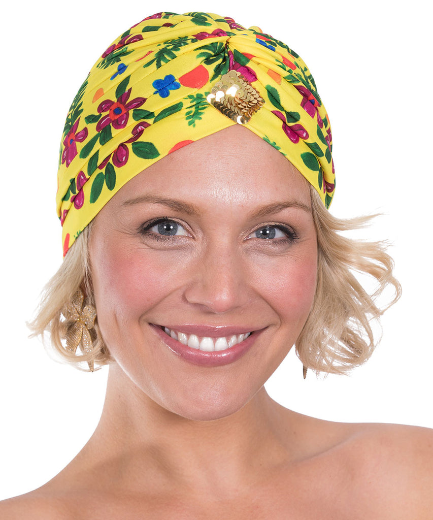 The Yellow Tropical Valley Turban by Bonita Kaftans