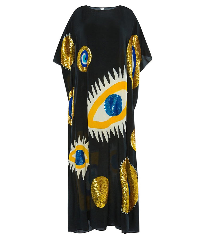 The Black Evil Eye Kaftan (SAMPLE)