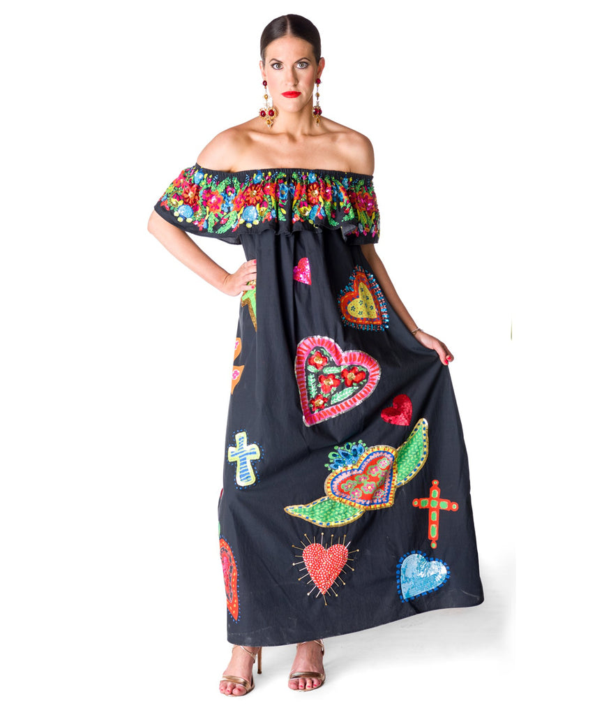 The Black Off The Shoulder Sacred Heart's Dress