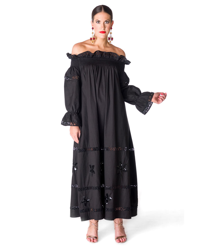 The Black Summer's Night Off The Shoulder Dress