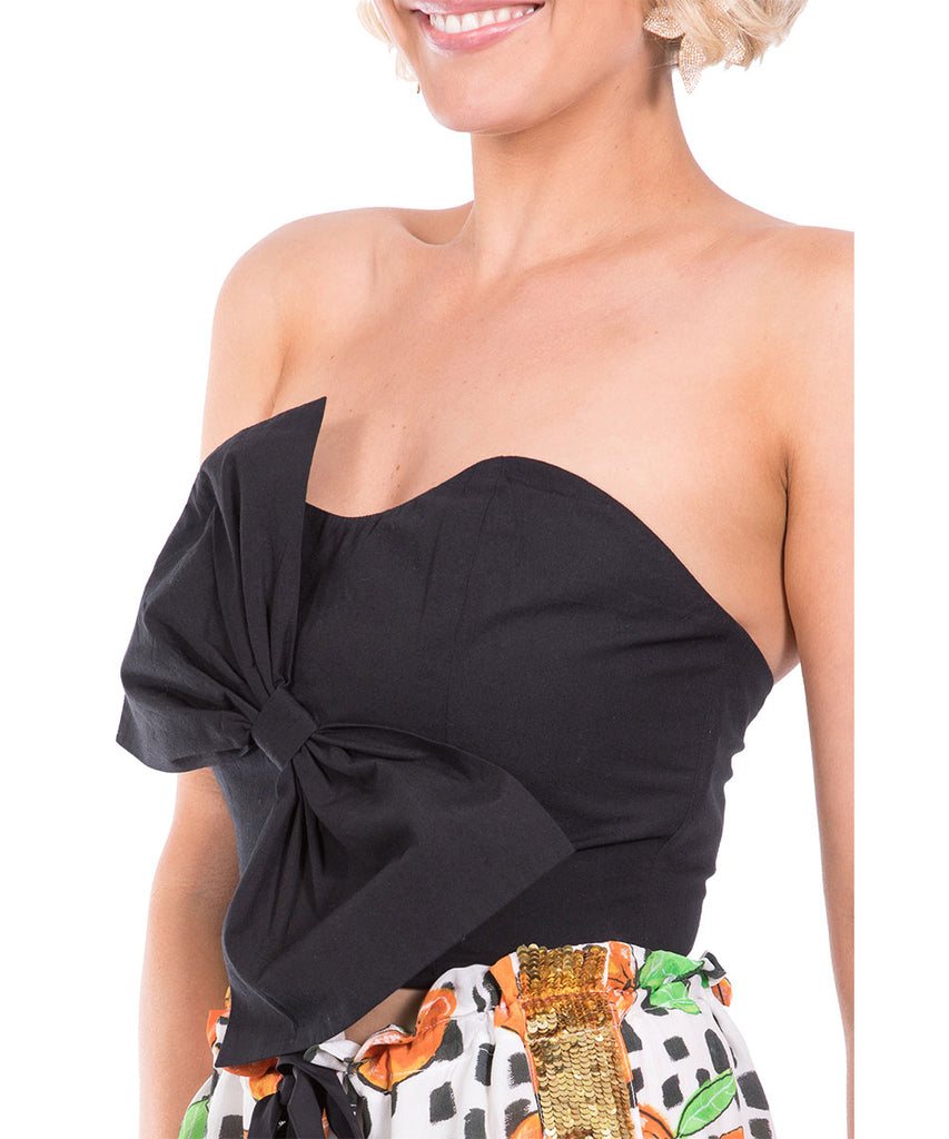 The Black Bow Bustier by Bonita Kaftans