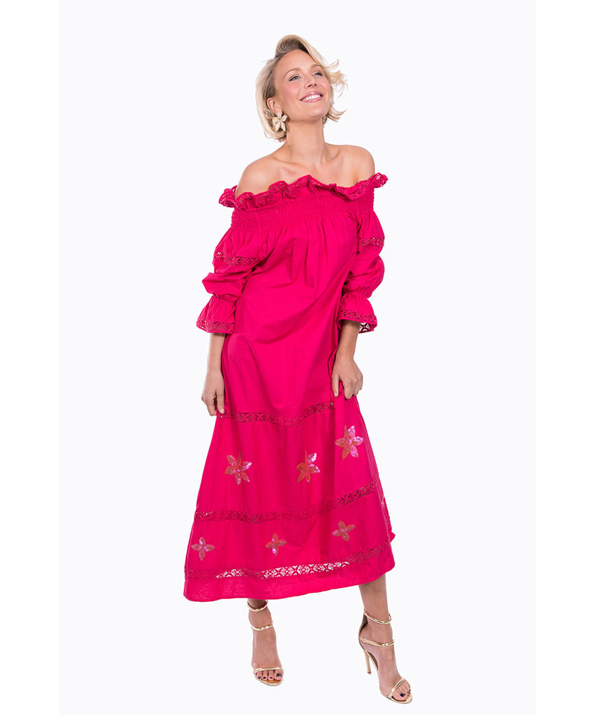 The Magenta Summers Night Dress by Bonita Kaftans
