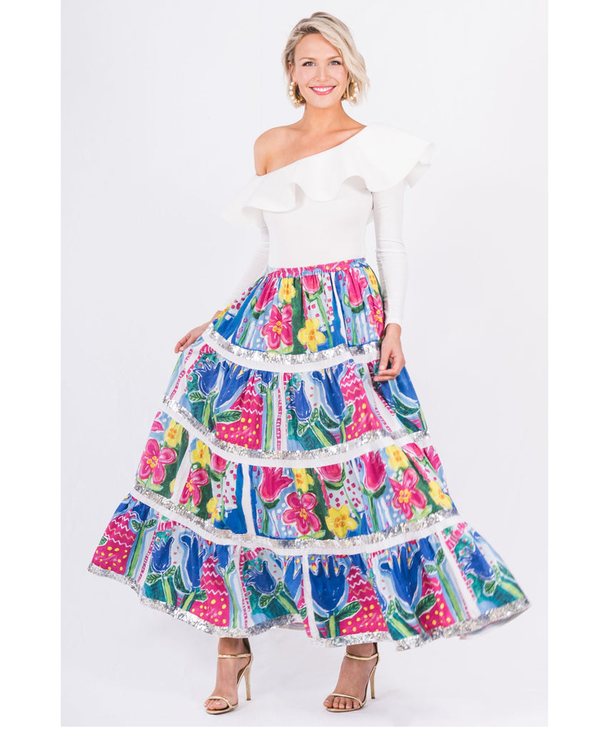 The Flower Post Card Skirt