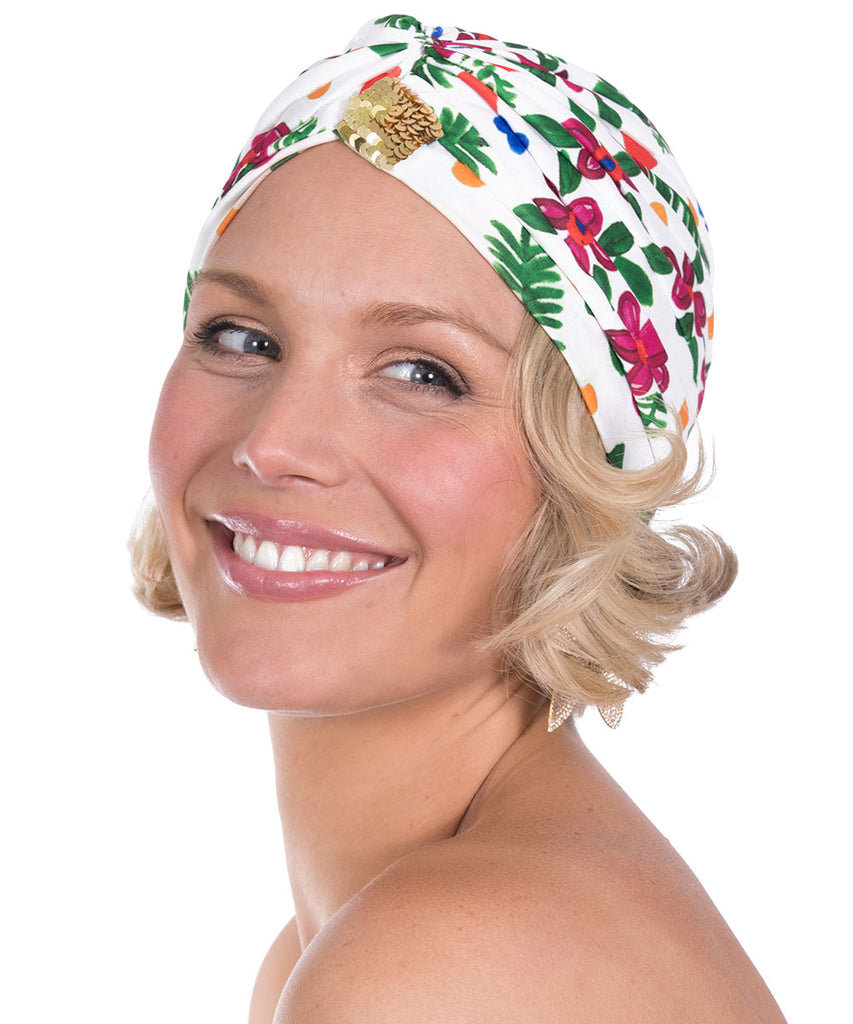 The White Tropical Valley Turban by Bonita Kaftans