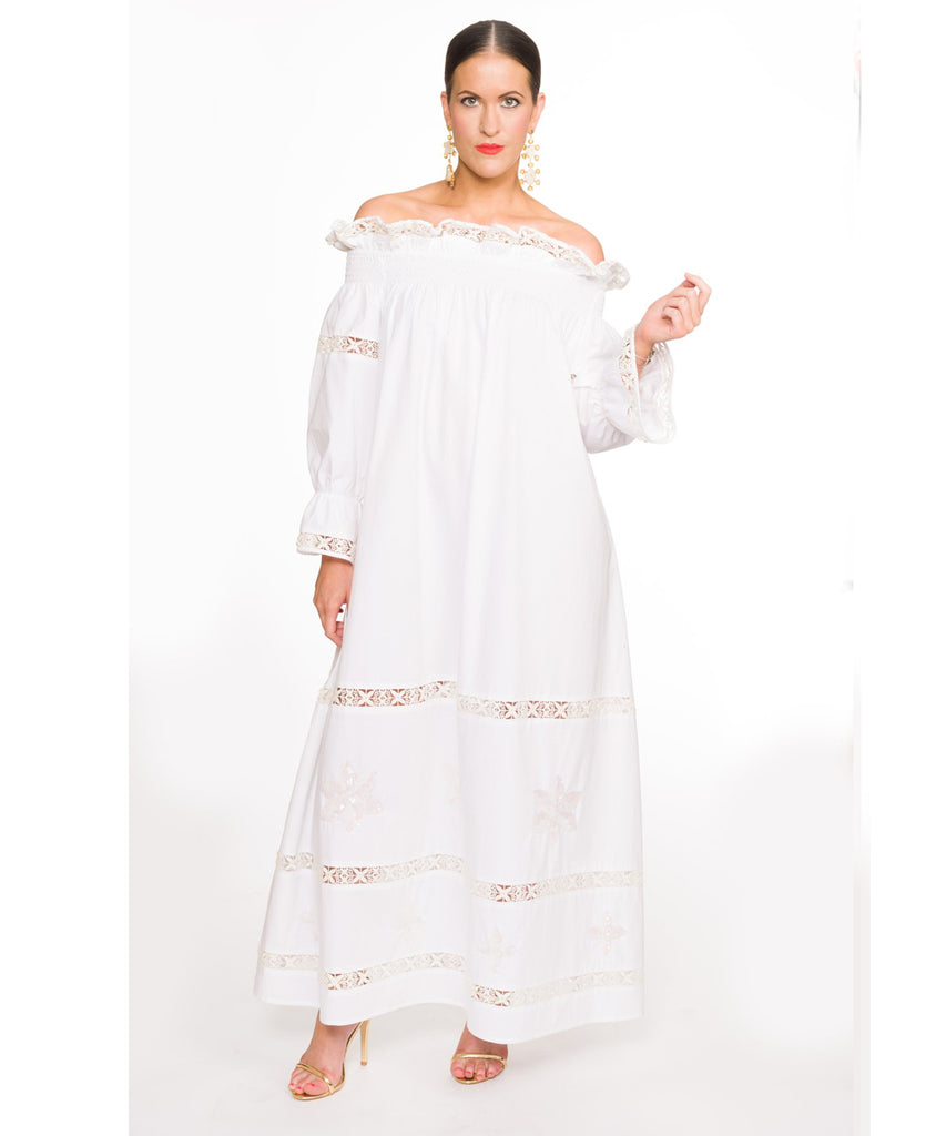 The White Summer's Night Off The Shoulder Dress