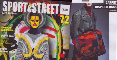 72 Smalldive Camou Duffel Bag Featured on May 2014 Issue of Sport & Street