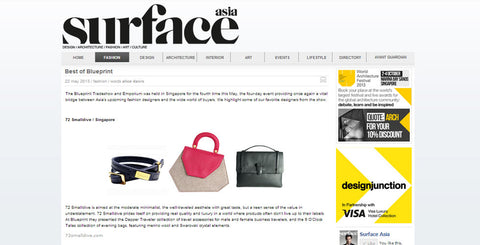 72 Smalldive Brand Feature on May 2013 of Surface Magazine Asia