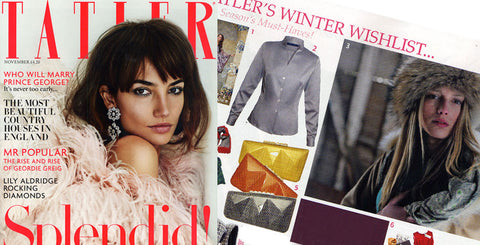 72 Smalldive Minaudière Featured on Dec 2013 Issue of Tatler UK