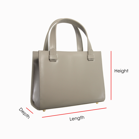 72 Smalldive Grey Top Handle Tote With Dimensions Explained