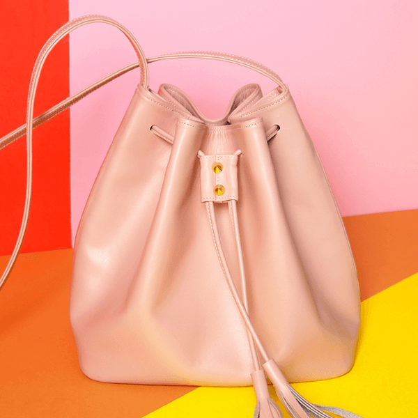 72 Smalldive Pink Cross Body Bucket Bag in Pink