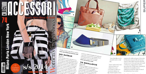 72 Smalldive 9 O'Clock Tales Featured on Oct 2013 Issue of Collezioni Accessori