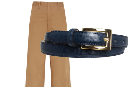 Culottes with Navy 72 Smalldive Saffiano Belt