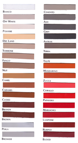 Buffed Leather Color Chart